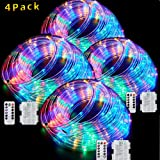 LED Rope Lights Battery Operated String Lights-40Ft 120 LEDs 8 Modes Outdoor Waterproof Fairy Lights Dimmable/Timer with…