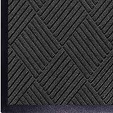 WaterHog Diamond-Pattern Commercial Grade Entrance Mat, Indoor/Outdoor Floor Mat 3' Length x 2' Width, Charcoal by M+A Mattin