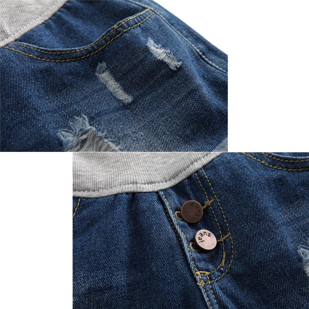 Hzjundasi Donna Premaman Shorts Jeans Leggings maternit/à Regolabile Ventre Banda Pantaloni