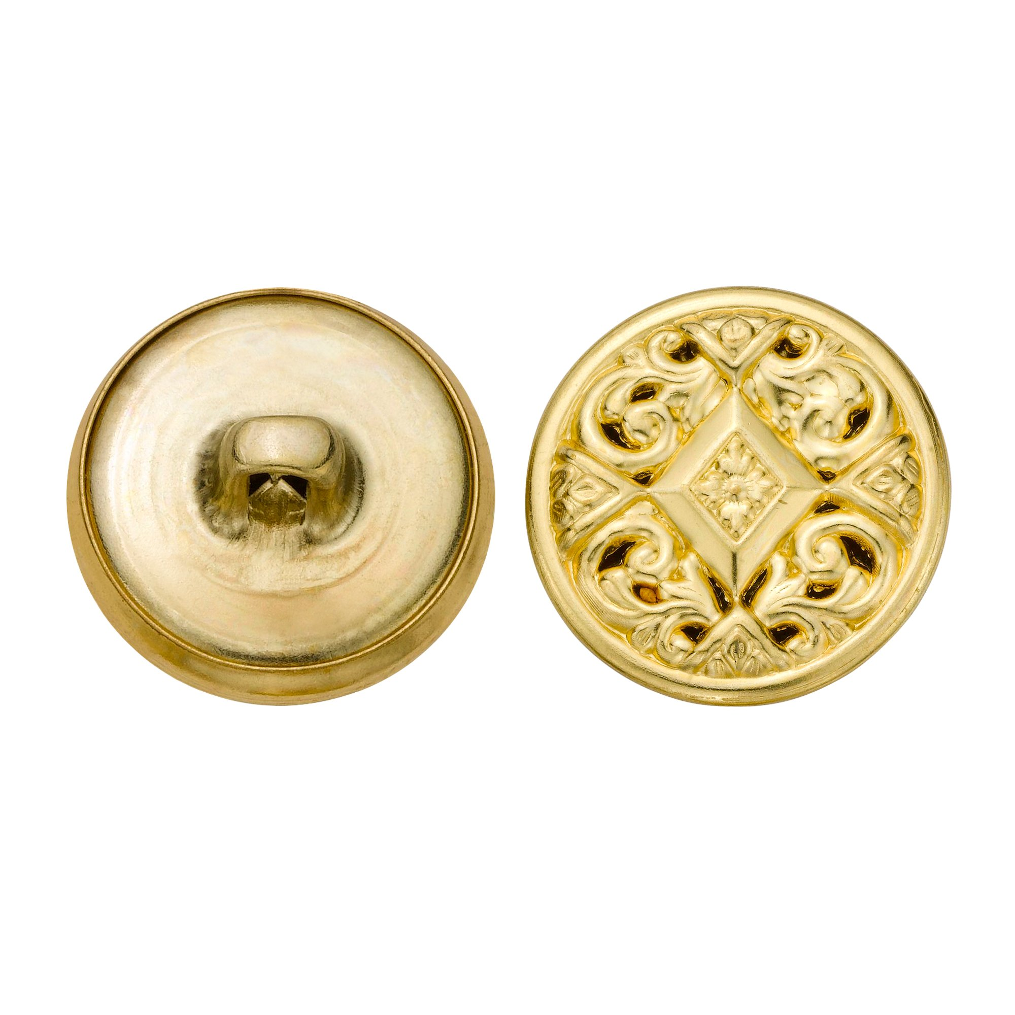 C&C Metal Products 5349 Filigree Metal Button, Size 30 Ligne, Gold, 36-Pack
