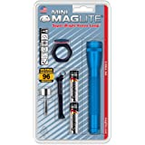 Maglite Mini Incandescent 2-Cell AA Flashlight Combo, Blue