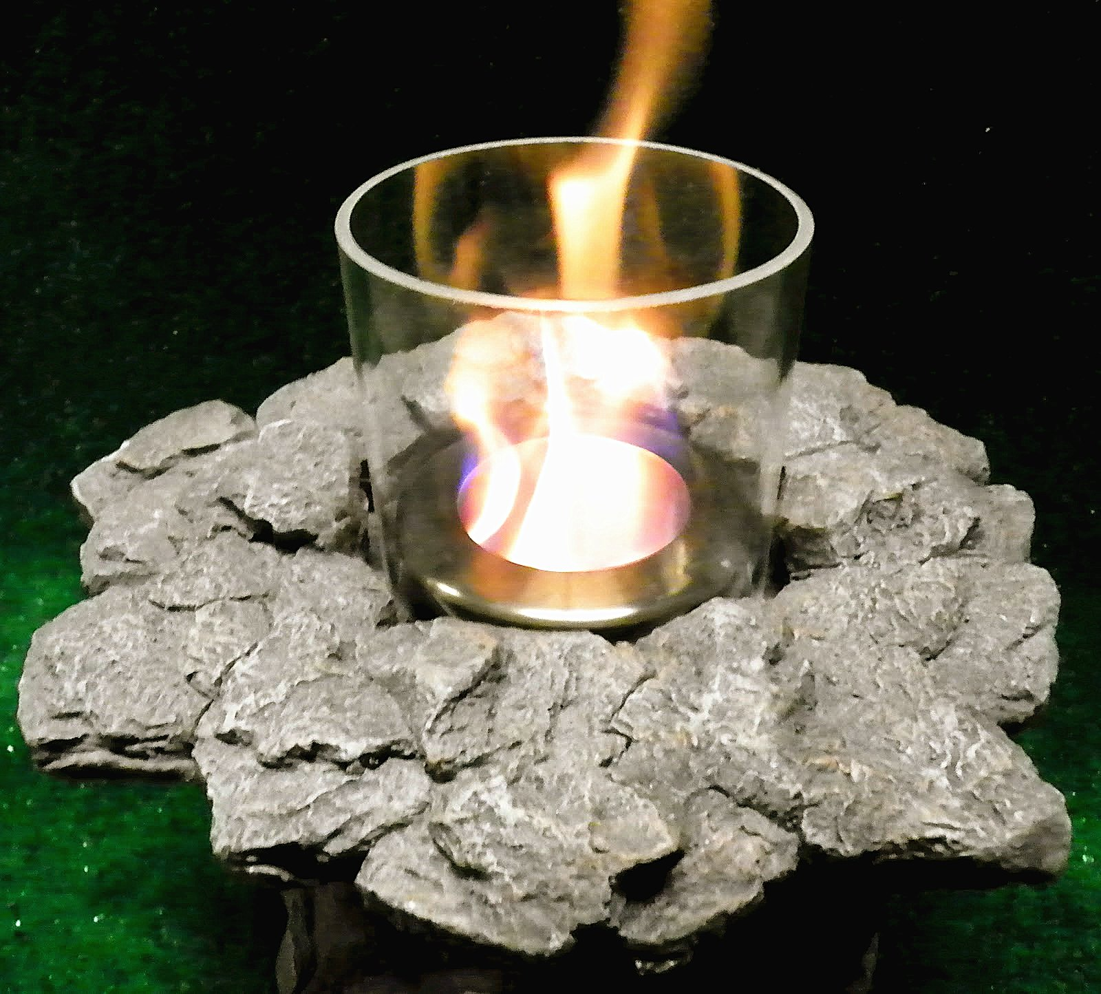 PayandPack Myard Tabletop Fireplace Fire Rock by PayandPack