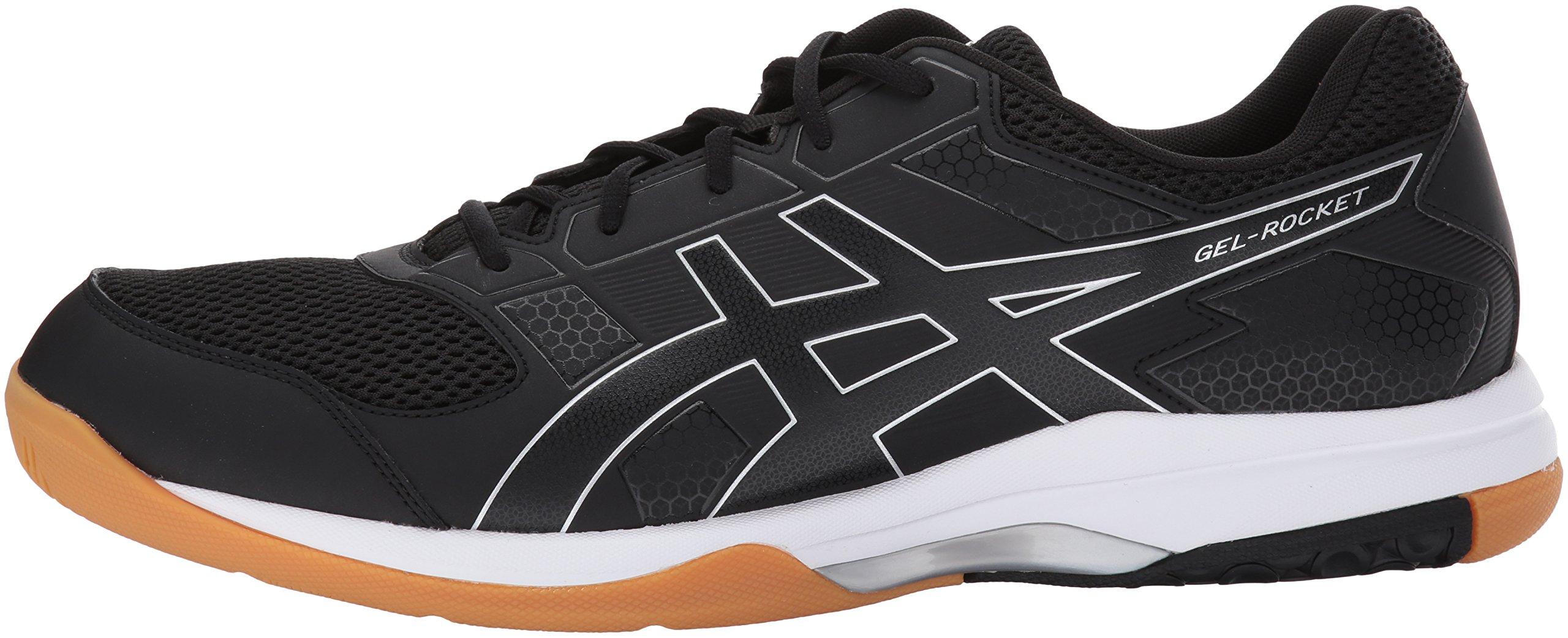 ASICS Mens Gel-Rocket 8 Volleyball Shoe Black/White, 7 Medium US by ASICS (Image #5)