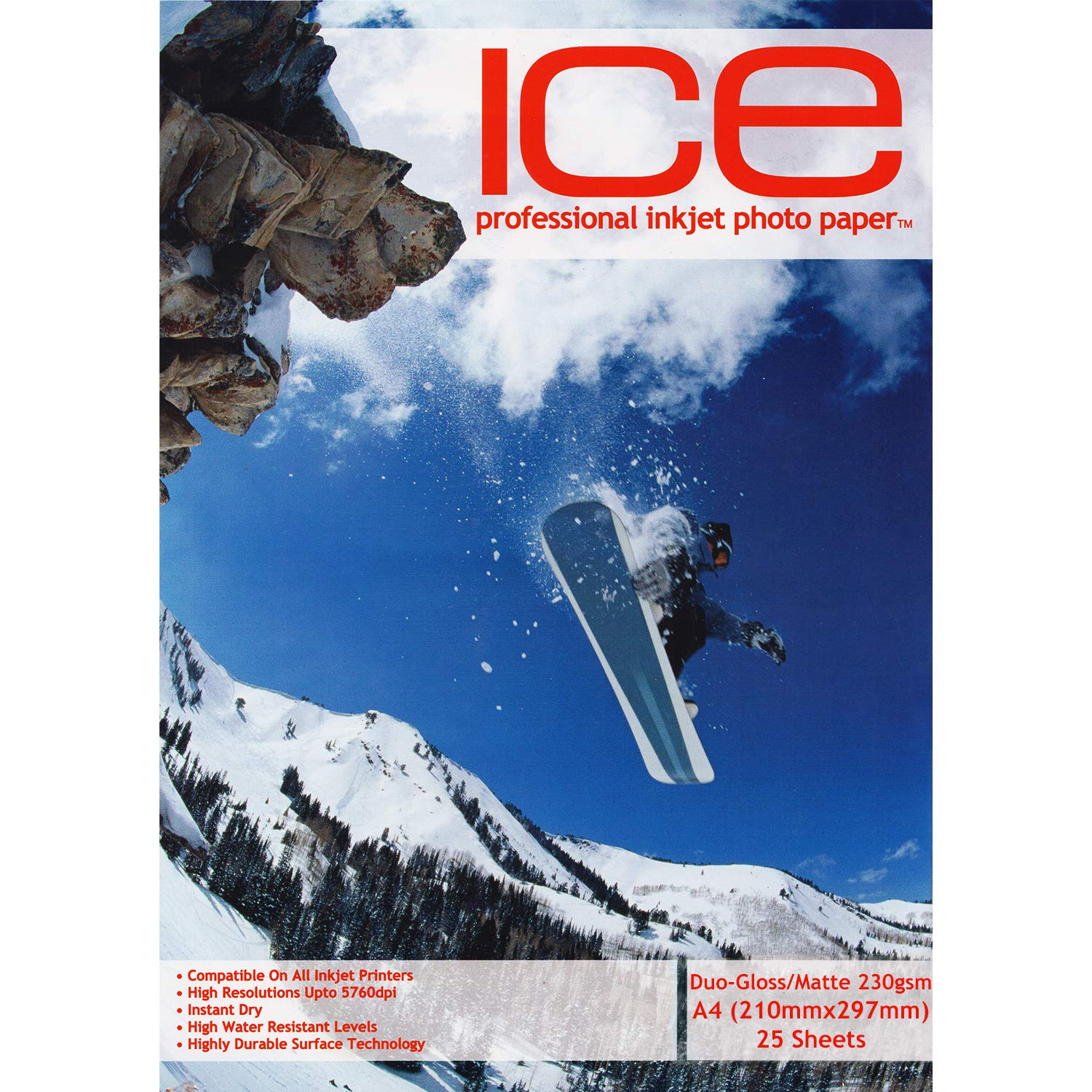 Ice 230/ g//m/² 100/ feuilles A4/ double face brillant//mat