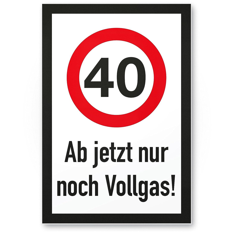 DankeDir!. 40 años Completo Gas - Plástico Cartel, Regalo 40 ...