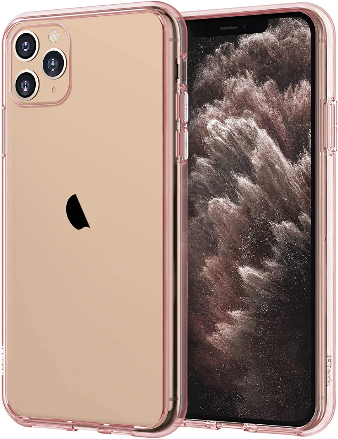 JETech Case for iPhone 11 Pro Max (2019), 6.5-Inch, Shockproof Bumper Cover, Anti-Scratch Clear Back (Rose Gold)