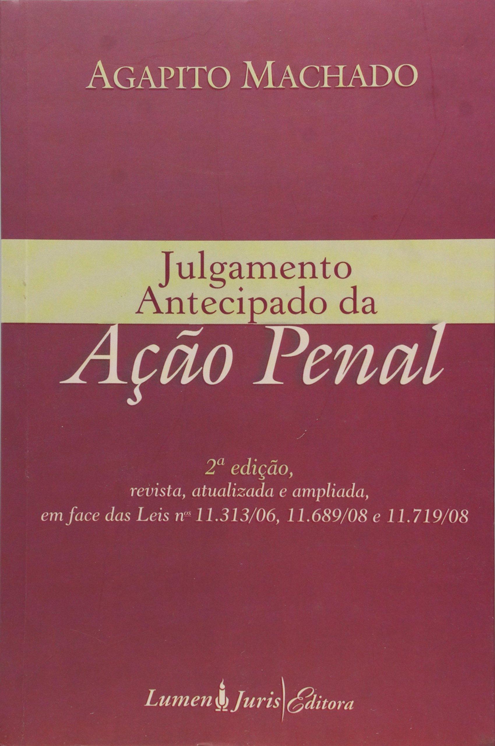 Read Online JULGAMENTO ANTECIPADO DA ACAO PENAL - 20 pdf epub