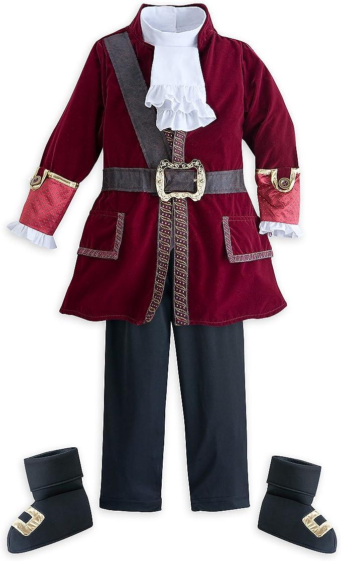 Disfraz de Capitán Garfio de Disney para niños, Multicolor, 9/10 ...