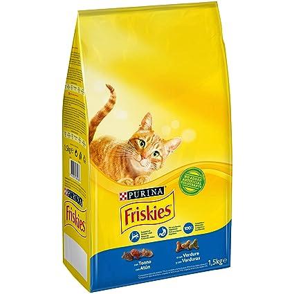 Purina Friskies Pienso para Gato Adulto Atún y Verduras 1,5 Kg