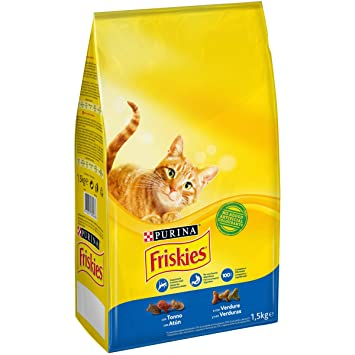 Purina Friskies Pienso para Gato Adulto Atún y Verduras 1,5 Kg: Amazon.es: Amazon Pantry