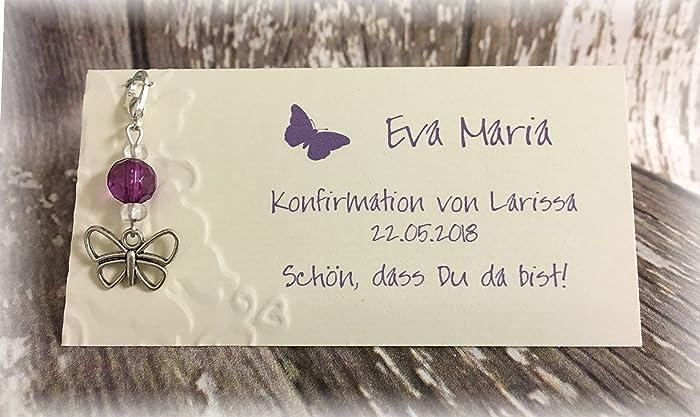 Gastgeschenk Tischkarte Tischdeko Deko Schmetterling Taufe Kommunion