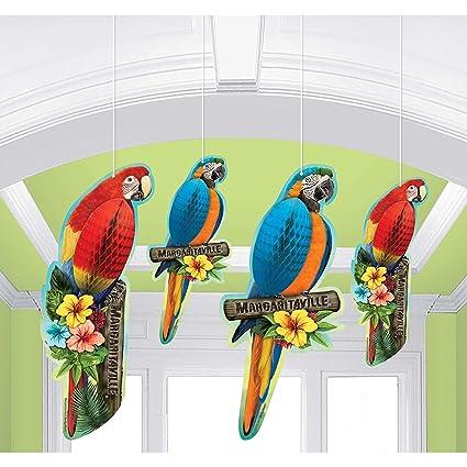 Amazon.com  Margaritaville Honeycomb Parrots 4ct  Kitchen   Dining 91a17c263b77b
