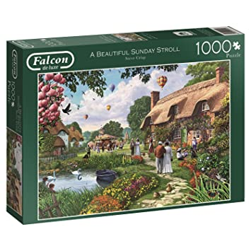 Beautyful Sunday Stroll 1000 Teile Puzzle Spiel Englisch 2013 Falcon