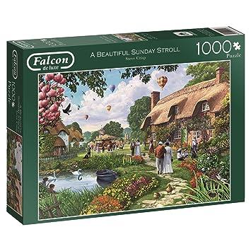 Falcon 1000 Teile Puzzle Spiel Englisch 2013 Beautyful Sunday Stroll