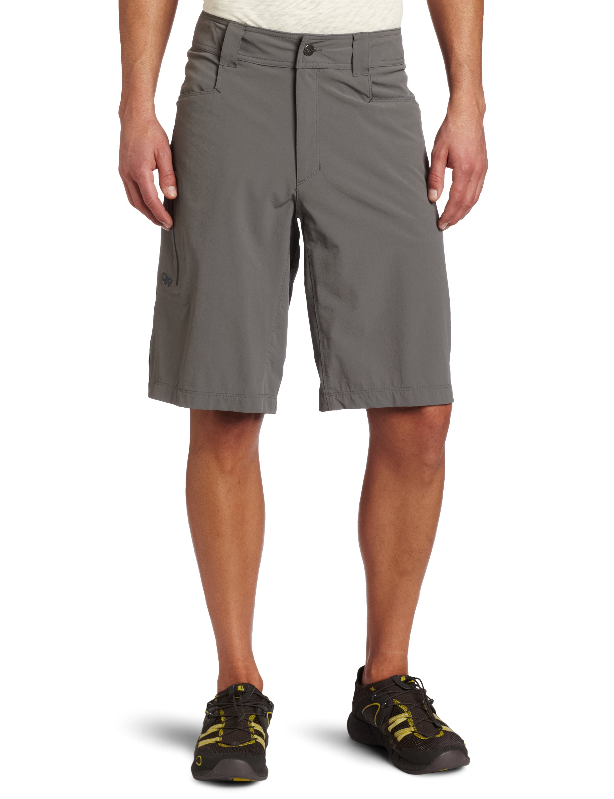 "Outdoor Research Men's Ferrosi 12"" Shorts, Pewter, 34"