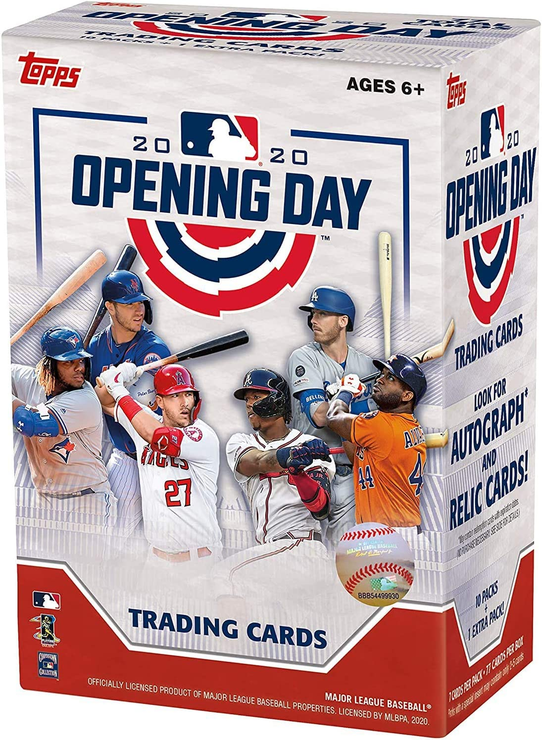 2020 Caja de béisbol Hobby Topps Opening Day