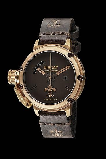 Reloj Automático U-Boat Chimera, Bronce, Marrón, 46 mm, Edición Limitada, 8100: Amazon.es: Relojes