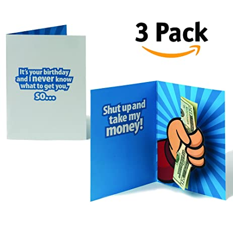 Amazon shut up and take my money 5x7 pop up greeting card quotshut up and take my moneyquot 5quotx7quot pop bookmarktalkfo Image collections
