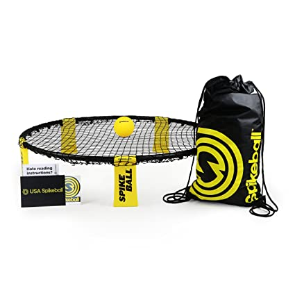 Spikeball Set - As Seen On Shark Tank TV - 1 Ball Set, Drawstring Bag, And Rule Book