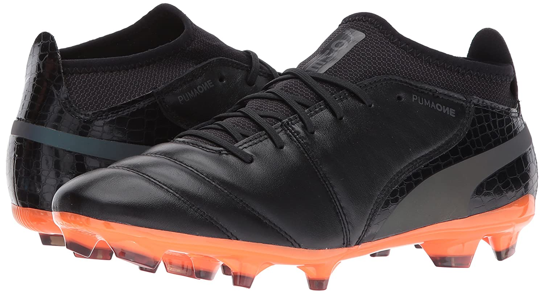 PUMA Men's One Lux 2 FG Soccer-schuhe, Soccer-schuhe, Soccer-schuhe, schwarz schwarz-Shocking Orange, 9.5 M US 7fbb3e