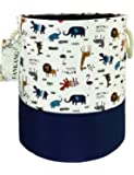 Storage Baskets,Collapsible & Convenient Nursery Hamper Laundry Bin Toy Collection Organizer for Kid's Room - Animal