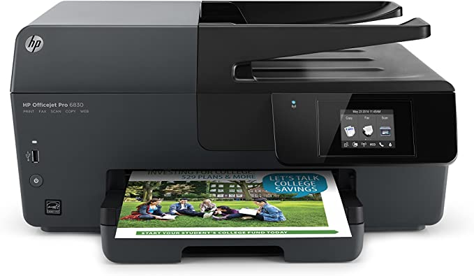 HP OfficeJet Pro 6830 Wireless All-in-One Photo Printer with Mobile Printing, HP Instant Ink & Amazon Dash Replenishment ready (E3E02A) (Renewed)