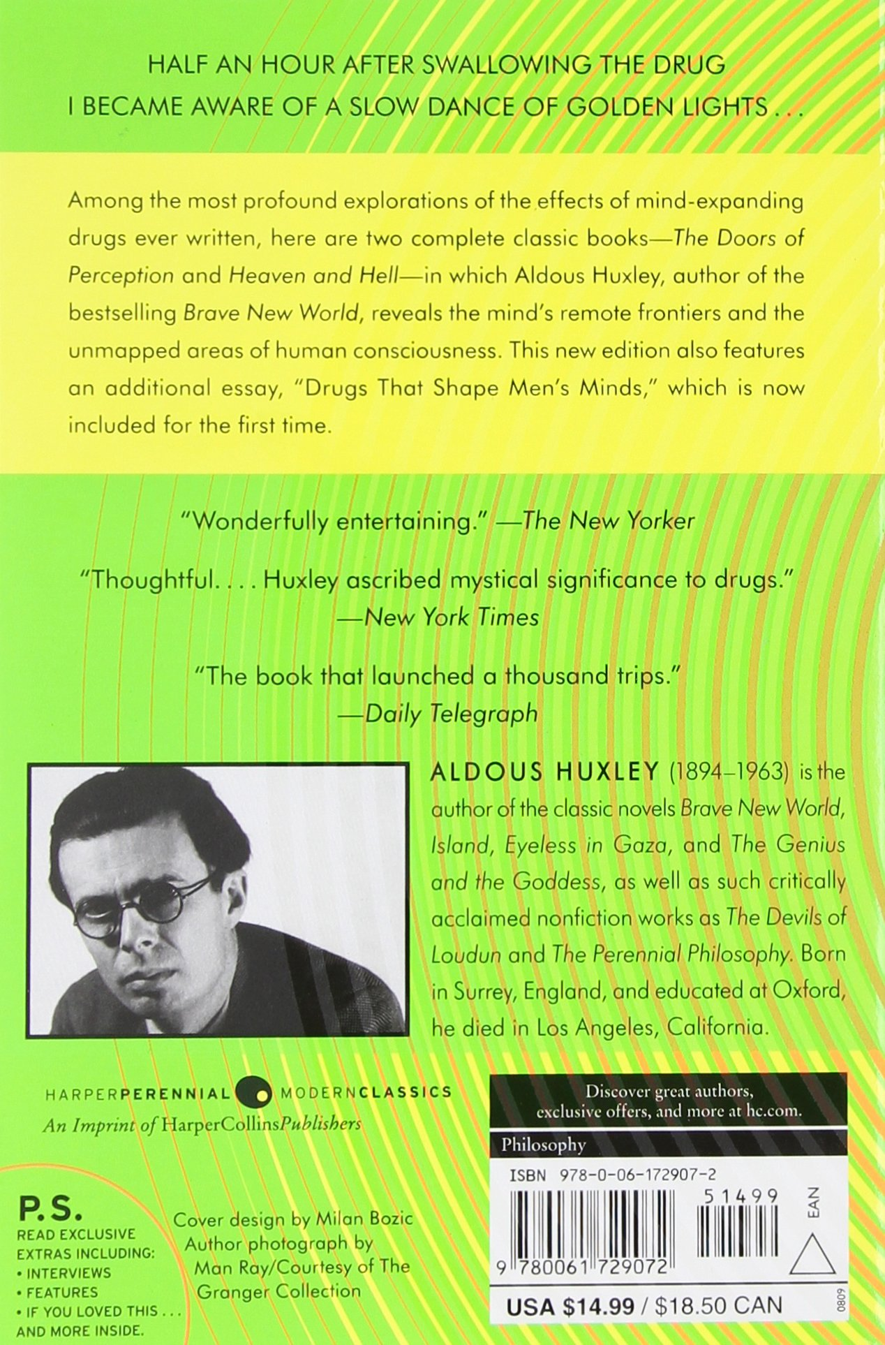 the doors of perception and heaven and hell aldous huxley the doors of perception and heaven and hell aldous huxley 9780061729072 com books