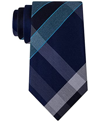 Kenneth Cole Reaction Men's Track Plaid Navy One Size