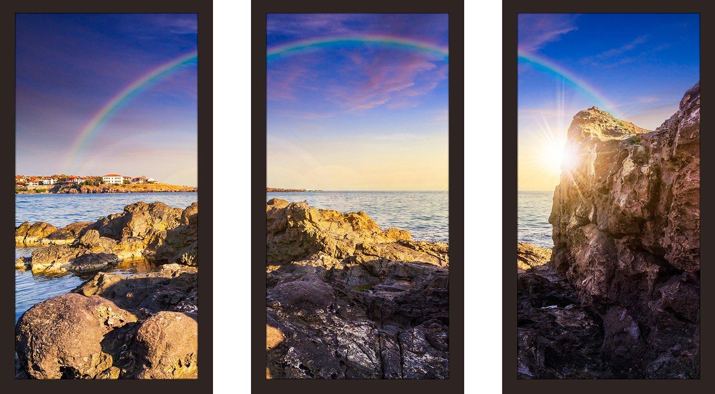 Picture Perfect InternationalOver The Rainbow Framed Plexiglass Wall Art Set of 3
