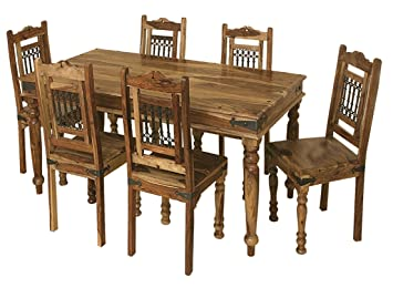 Jali Solid Sheesham Indian Rosewood 175M Dining Table ONLY