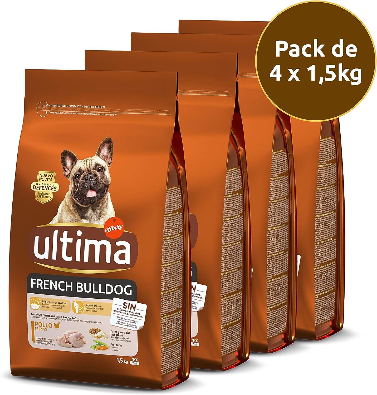 ultima Pienso para Perros French Bulldog - Pack de 4 x 1.5 kg, Total: 6 kg