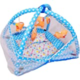 Tavakkal® Baby Kick and Play Gym with Mosquito Net and Baby Bedding Set Fully Covered