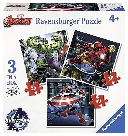 3 opinioni per Ravensburger 07004- Marvel Avengers 3 Puzzle Progressivi, 25/36/49 Pezzi