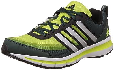 adidas Men's Magnus 3.0 M Green, Silver, Yellow and Black Mesh Running Shoes  -