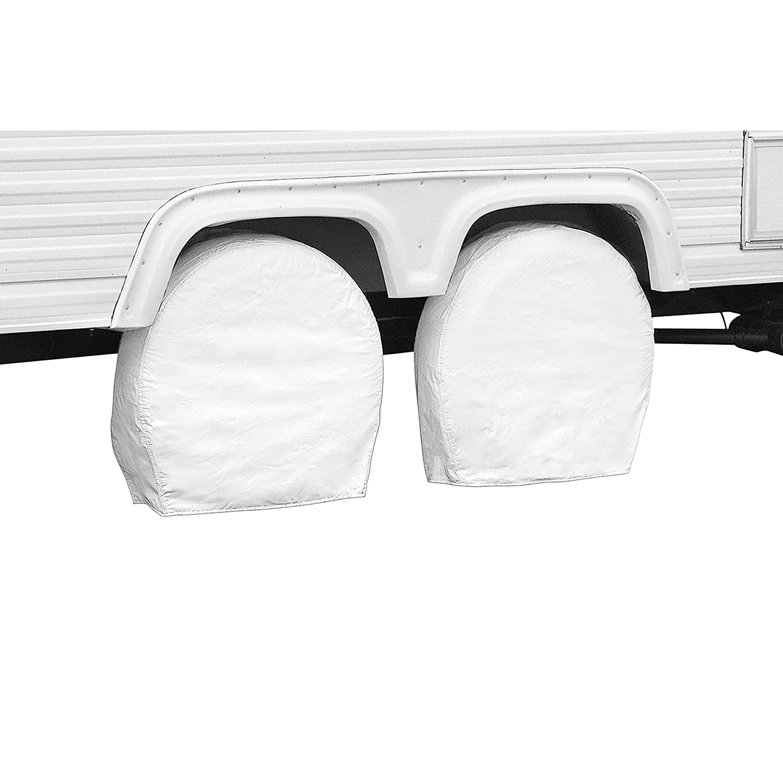 19 to 22 Classic Accessories 18-21 Diameter 6.75 Wide Inc 76220 Classic Rv Tire Wheel Covers-Snow White