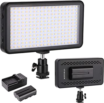 Led Video Light Konnwan 228 For Digital Dslr Camera Camcorder High Brightness Lumen Value 6000k Dimmable Switch With Color Filter Gel Led Vedio Lighting Kit Included Led Battery Charger Stents