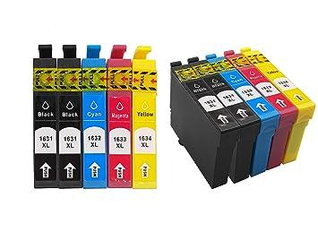10 Paquetes de Cartuchos de Tinta de Repuesto para Epson 16XL ...