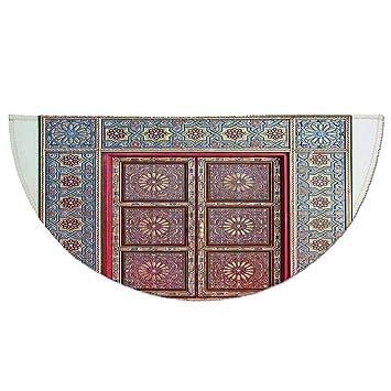 93f51791f334 Amazon.com: Half Round Door Mat Entrance Rug Floor Mats,Moroccan ...