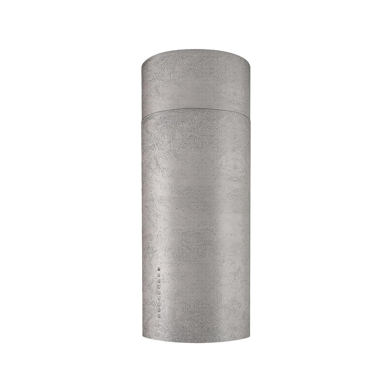 FABER Cappa ad isola CYLINDRA ISOLA PLUS CONCRETE finitura cemento da 37cm [Classe di efficienza energetica A]
