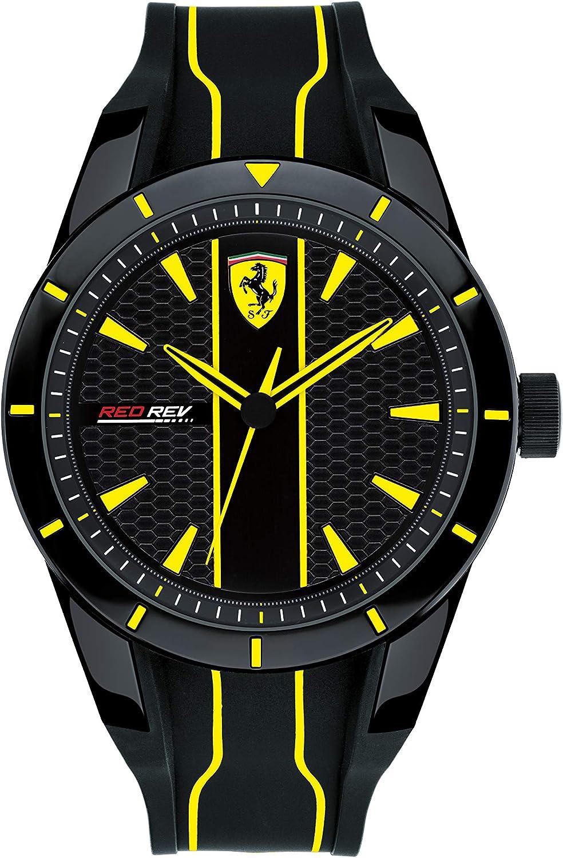 Scuderia Ferrari Reloj Analógico para Hombre de Cuarzo con Correa en Silicona 830482