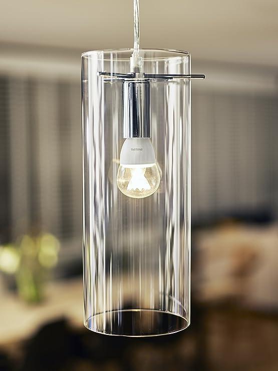 Philips Lighting Bombilla gota Vela LED de luz cálida, 6W/40 W ...
