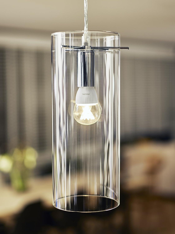 Philips Bombilla Gota Vela LED de luz cálida, 6W/40 W, casquillo E14, regulable 6 W, Blanco 40 W: Amazon.es: Iluminación