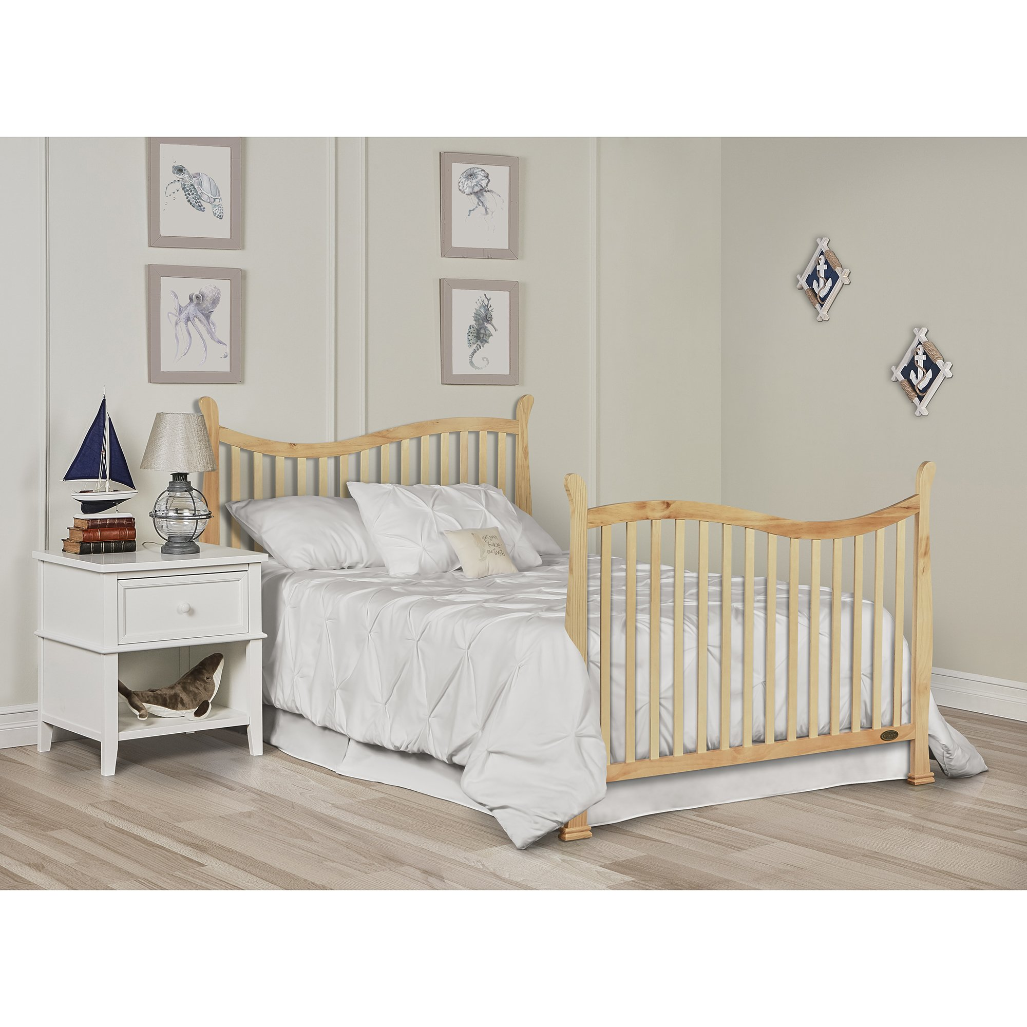 Dream On Me Violet 7 in 1 Convertible Life Style Crib, Natural by Dream On Me (Image #5)