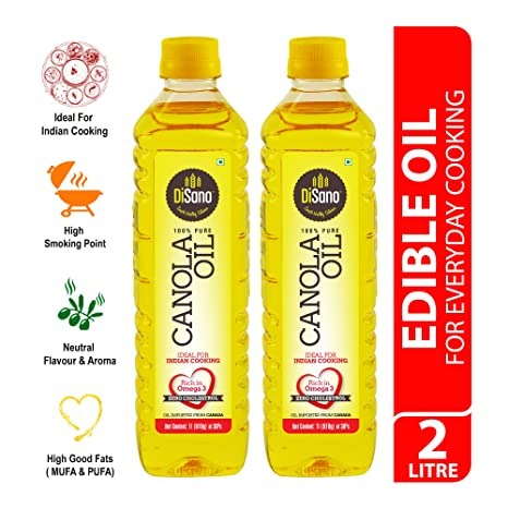 Disano Canola Oil, 1Ltr (Pack of 2)
