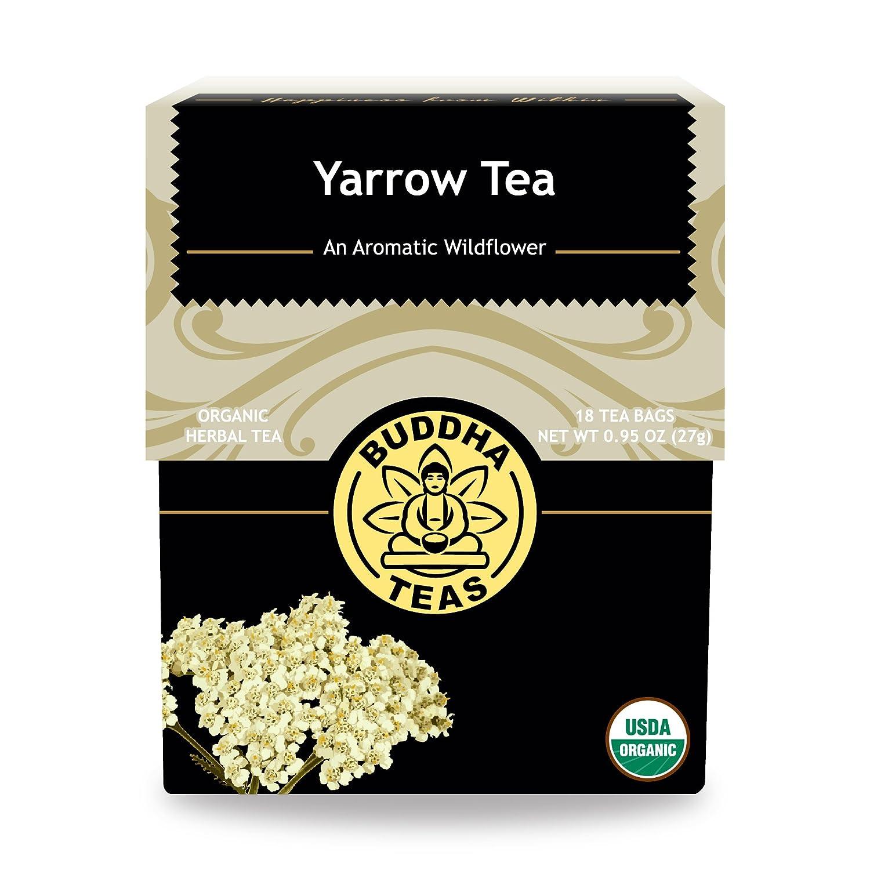 Organic Yarrow Tea - Kosher, Caffeine-Free, GMO-Free - 18 Bleach-Free Tea  Bags