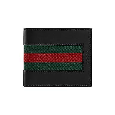 511bea7a11d2 Gucci Homme 408827CVL1N1060 Noir Cuir Portefeuille  Amazon.fr ...