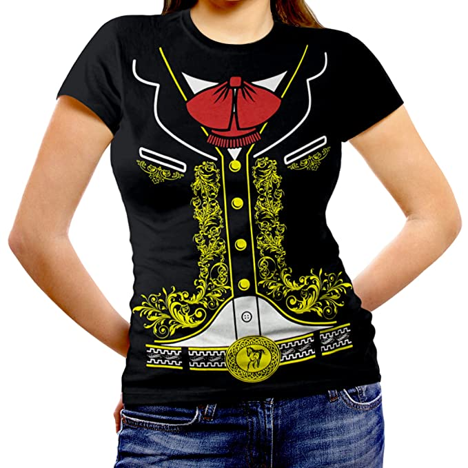 c990771a Viva Mexico Women's Mexican Mariachi Charro Cinco de Mayo Costume Fitted T- Shirt: Amazon.ca: Clothing & Accessories