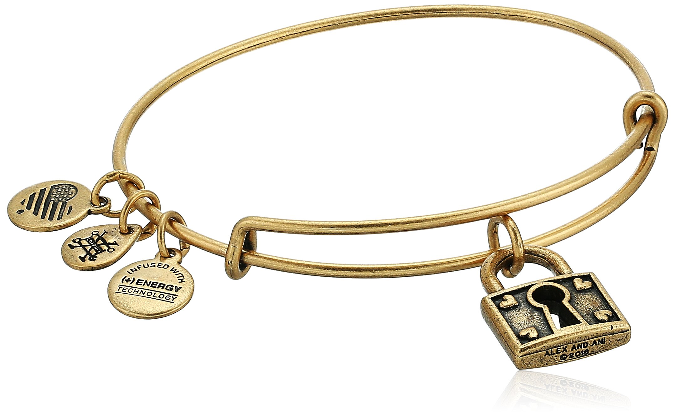 Alex and Ani Unbreakable Love EWB, Rafaelian Gold, Expandable
