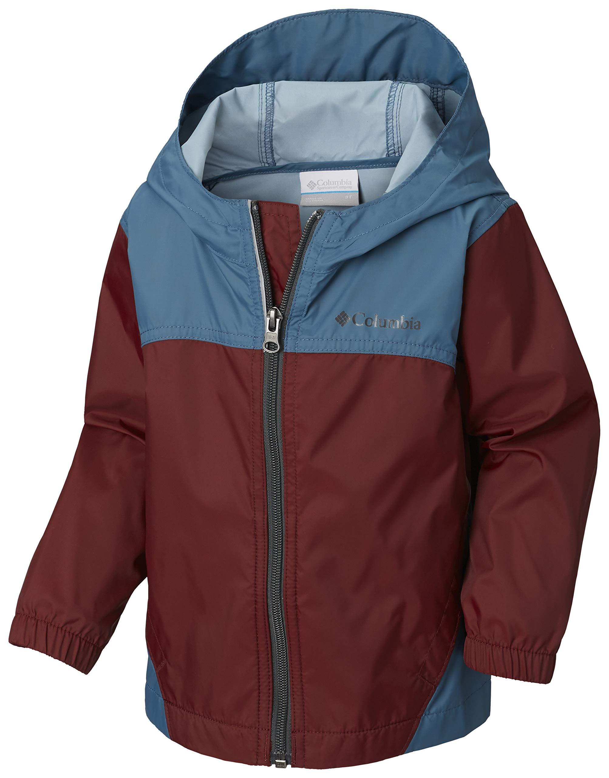 Columbia Boys' Little' Glennaker Rain Jacket Tapestry/Blue Heron X-Small