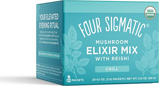 FOUR SIGMATIC Mushroom Elixir Mix with Reishi (20 Packets), 3 g